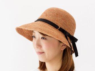 Chloe クロエ ラフィア 女優帽 帽子 たためる帽子 58cm ブラウン [UK-H055-M-BR]の画像
