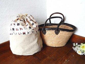 バッグインバッグ巾着 フレンチブルドックの画像
