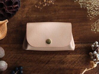 枇杷の葉染の小さい財布の画像