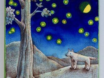 上弦の月(原画)[original drawing]の画像