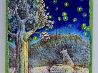 遠くの山の夢(原画)[original drawing]の画像