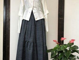 """年末SALE 07着物リメイク作家""""優衣""""ーkimono☆着物を使用した10枚接ぎのスカートの画像"""