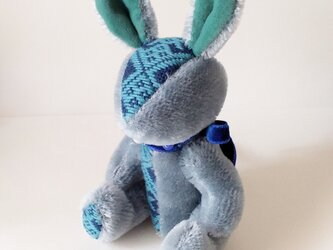 こぎんのうさぎM 総刺しこぎんウサギ:Blue Forestの画像