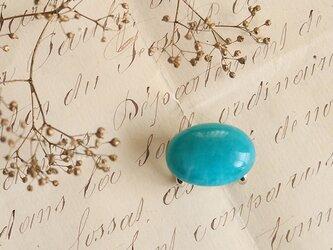 天然石の帯留 ◎ アマゾナイト/B【送料無料】の画像