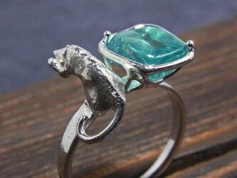 アパタイトと猫 * Apatite & Cat Ring  llllの画像