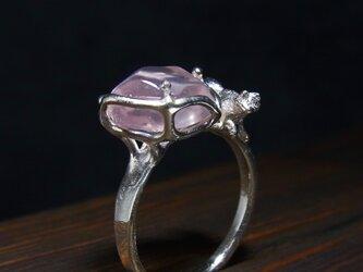 ローズクォーツと猫 * Rose Quartz & Cat Ringの画像