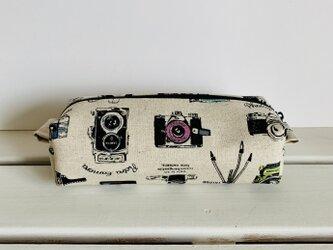 横長ボックスポーチ(カメラ 生成り)の画像