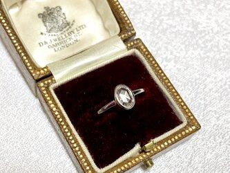 Pt900 ローズカット ダイヤモンドリング オーバルの画像
