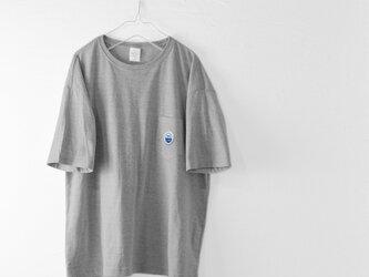 ビッグシルエットTシャツ【グレー】 WED HYM 刺繍ワッペン入りの画像