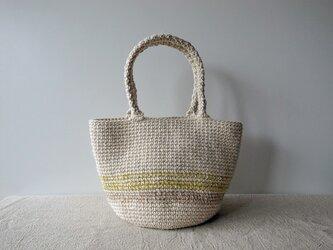 麻ひもバッグ chamomileの画像