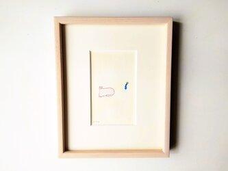 「ひだまり2」 イラスト原画 / 額縁入りの画像
