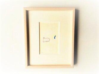 「ひだまり」 イラスト原画  ※木製額縁入りの画像