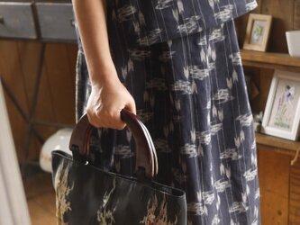 正絹と久留米絣のセットアップの画像