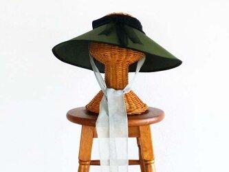 折りたたみ式 サンハット 抹茶の画像