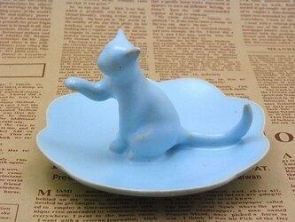 Cat Loverのためのジュエリーディッシュ・アイスブルー18の画像