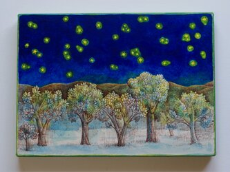 木々と星空 L(原画)[original drawing]の画像