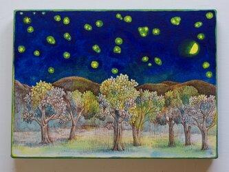 木々と星空 R(原画)[original drawing]の画像