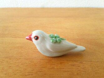 白文鳥 花小鳥/小(陶)の画像