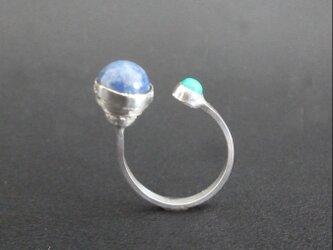 Unbalance - free size silver Ringの画像