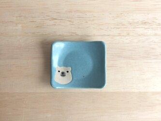 シロクマ豆皿の画像
