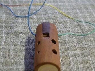 桜の木のオカリナ アメリカンチェリー材 アルト管G管の画像