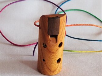 木のオカリナ ケヤキ ソプラノ管 C管の画像