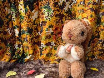 キティちゃんのお友達みたいなリスの画像