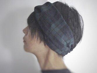 ターバンなヘアバンド ブラックウォッチ 送料無料の画像