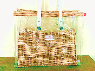 スケルトンtote-bag-バスケット柄(受注生産)の画像
