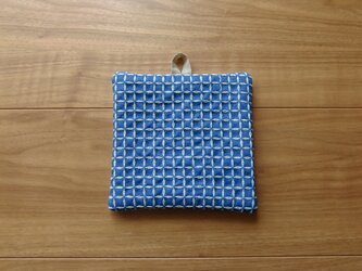 〔受注制作〕刺し子のポットマット(米刺し・生成り色)の画像