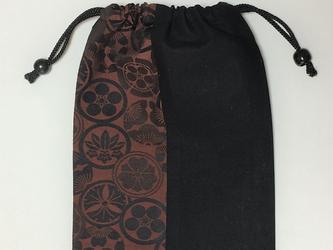 御朱印帳袋~赤茶家紋柄の画像