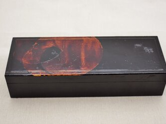 筆道具箱 白漆黒漆溜塗の画像