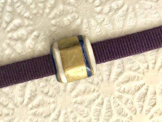 シンプルストライプ 小さな帯留めの画像