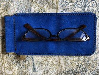 SALE メガネ入れ 革 手縫いの画像
