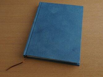 ハードカバーのA5ノート (藍染)の画像