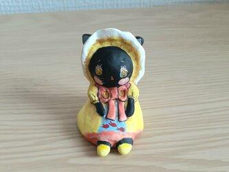 小さなお友達 黒猫文化人形レトロちゃんの画像