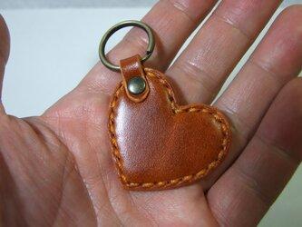 ルガトショルダー橙の小さいハートのキーホルダー の画像