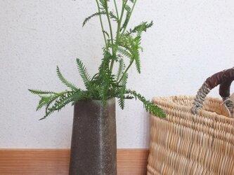 備前焼花瓶 花入れ 石田育男氏作の画像