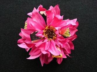 ダリアのコサージュ&髪飾り (ビューティピンク)の画像