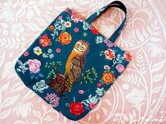 【受注製作】「ナタリーレテ『Greeny owl』トートバッグの画像