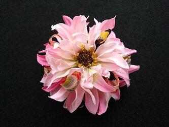 ダリアのコサージュ&髪飾り (ピンク)の画像