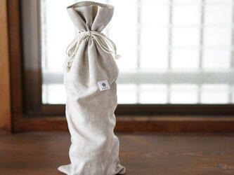【wafu】リネン ボトルカバー ワインバッグ 贈り物に 720~750mlに対応 / 亜麻ナチュラル z002i-amn2の画像