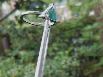 sv925 グランディディエライトのリング  <トリリアントカット>の画像