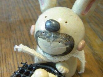 ウサギ権太のお正月 うさぎ 兎 焼きもち もち 正月の画像