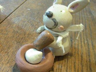 ウサギ権太のお餅つき うさぎ 兎 餅つき お正月の画像