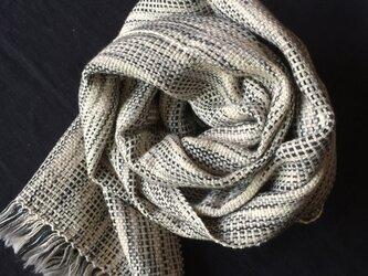 スーピマコットンの手織りストールの画像