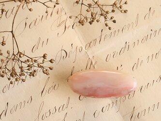 天然石の帯留 ◎ ピンクオパール/A【送料無料】の画像
