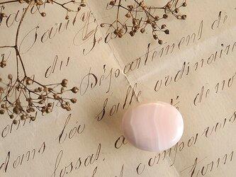 天然石の帯留 ◎ ピンクカルサイト/B【送料無料】の画像
