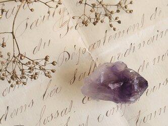 天然石の帯留 ◎アメシスト原石/A【送料無料】の画像