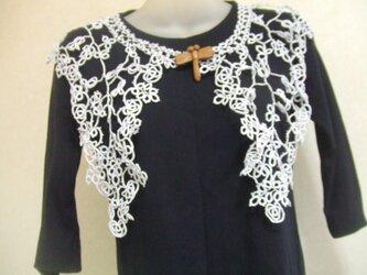 タティングレースの飾り襟の画像